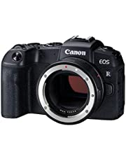 Canon EOS RP with EF-EOSR Adapter Full Frame Mirrorless Camera, Black (RPBODY+EF-EOSR)