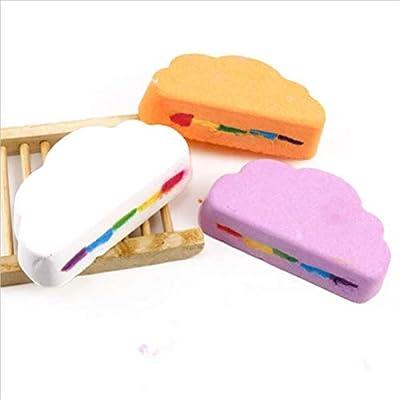 Rainbow Clouds Turn Baño De Burbujas Bola Nutrir Hidratante Sales De Baño De La Bola Aceite Esencial Del Arco Iris De La Bola Del Baño 3 Pack: Amazon.es: Belleza