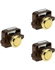 3 reeksen drukknop lade Catch Lock knop vergrendeling voor kast/RV/boot kast, kasten en deuren - goud