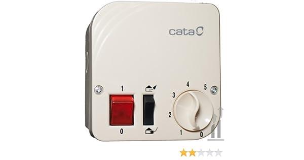 Cata 825 - Regulador de velocidad para ventilador de pared de 1900 ...