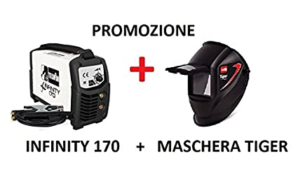 PROMOZIONE TELWIN SALDATRICE INFINITY 170 INVERTER + MASCHERA TIGER ...