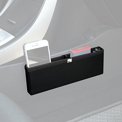 KMMOTORS Ultra Slim Side Pocket Black,Car Seat Side Organizer,Car Pockets