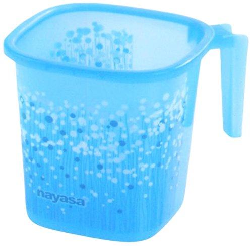 Nayasa Plastic Square Mug Funk, 1.5 litres, Blue Price & Reviews