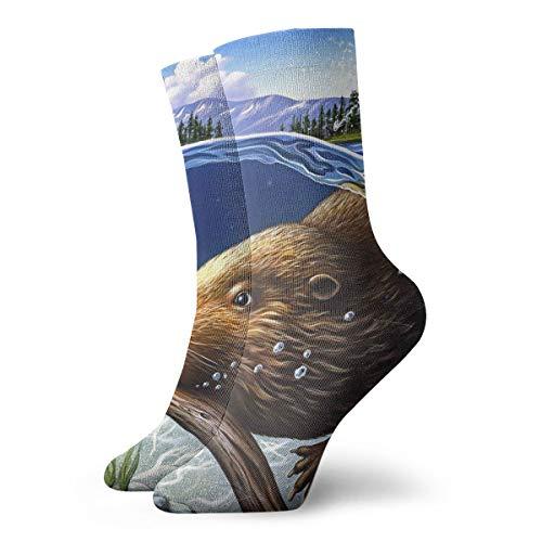 YUANSHAN Socks Busy Beaver Women & Men Socks Soccer Sock Sport Tube Stockings Length 11.8Inch -