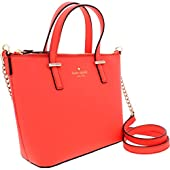 Kate Spade Cedar Street Harmony Leather Crossbody Handbag Orange Size Small