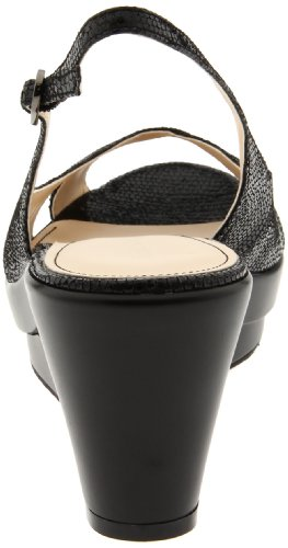 Calvin Klein Women's Rosaria Wedge Sandal,Black,8.5 M US