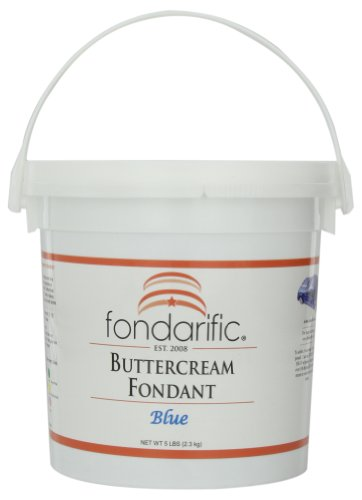 (Fondarific Buttercream Blue Fondant, 5-Pounds )