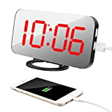 Alarm Clock with Dual USB Port and Charger, TISSA 6.5' Large...