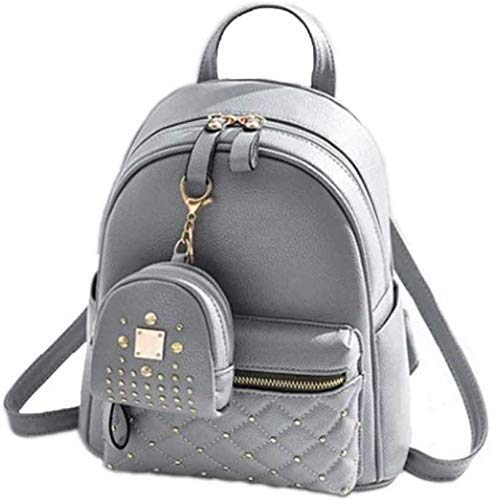 Sk Noor Women's Girls Fashion PU Leather Mini Casual Backpack Bags For School, College, Tuition, office With Small…