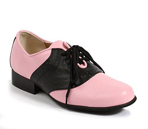 ELLIE 105 SADDLE Womens Black W/ Pink Oxfords Shoes, Size - -