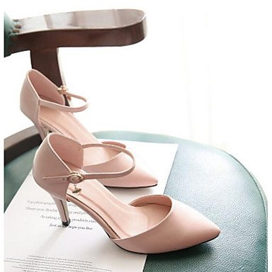 EU36 US6 White Blushing Women'S Comfort Black CN36 Summer UK4 Flat Sandals Comfort Pink Pu Casual RTRY AvUwOq1O