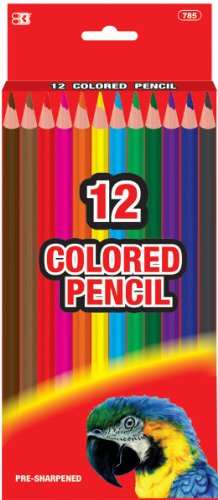 12 Pre-Sharpened Color Pencils 144 pcs SKU# 1757826MA by DDI