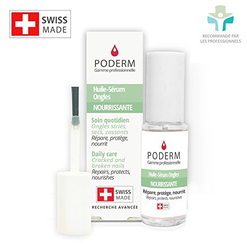 DRY, CRACKED AND BROKEN NAILS. REPAIRS, PROTECTS, NOURISHES. Natural, easy, fast treatment for hands and feet using exceptional Swiss plants and essential oils (organic lemon and cinnamon).