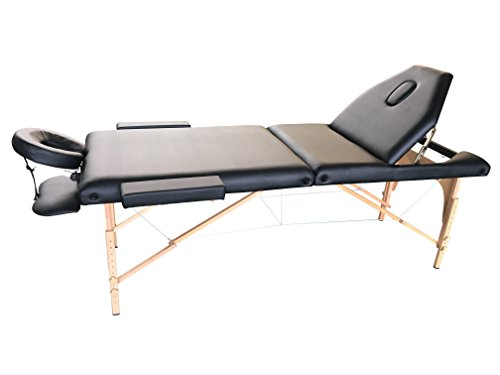 The Best Massage Table 3 Fold Black Reiki Portable Massage Table – PU Leather High Quality