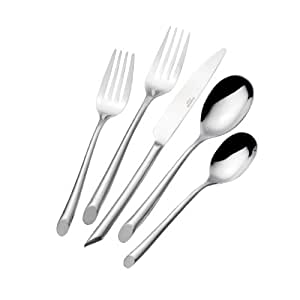 Towle Living T8613200 Wave 20-Piece Stainless Steel Flatware Set, Service for 4
