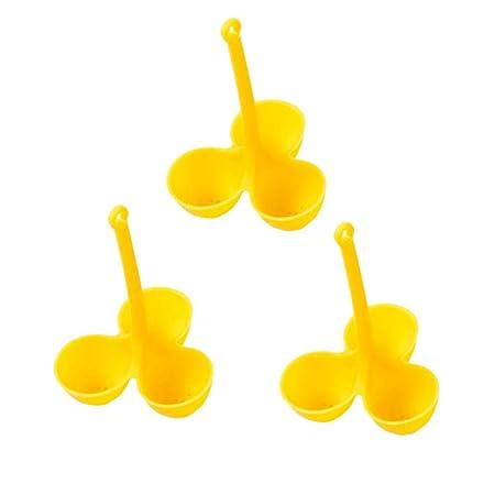 UPKOCH 3 Piezas Escalfadores de Huevos de Tres Rejillas de Silicona para Microondas Estufa