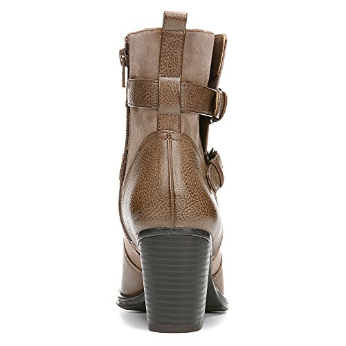 Naturalizer Kvinners Transform Riding Boot Mørk Taupe Glatt / Microfiber