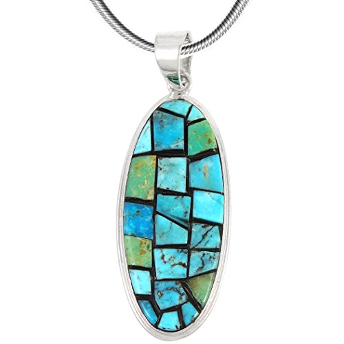 Turquoise Pendant Necklace in Sterling Silver (SELECT from different styles) - Women Styles For Different