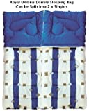 Royal Umbria Double Sleeping Bag Blue King Size Can be used as 2 x Single Bags