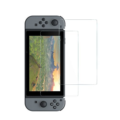 Anker GlassGuard Premium Tempered Glass Screen Protector, with [ Double Defense ] Technology for Nintendo Switch [2-Pack]