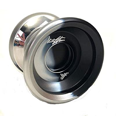 YoYoFactory Shutter Wide Angle BiMetal Styling Yoyo Color Black Silver Dip with Silver Rims: Toys & Games