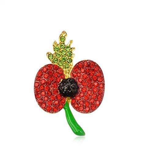 Gudeke Gouttes rouges de l'huile de fleur de pavot Mulberry Papaver Coquelicot broche Broche Corsage pour les femmes