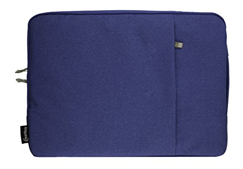 Emartbuy Universal 11.6-13.3 Inch Blue Premium Fabric Carrying Case Cover Sleeve with Retractable Handle and Zipped Pocket Suitable for Selected Laptops Notebooks Ultrabooks Listed Below