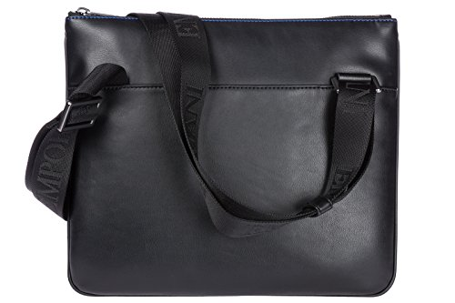 EMPORIO ARMANI MAN BIG EAGLE SMALL FLAT MESSENGER Y4M181YG90J Schwarz