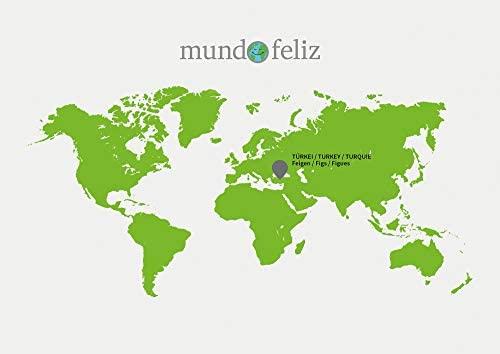 Mundo Feliz - Higos ecológicos secos, 2 bolsas de 500 g