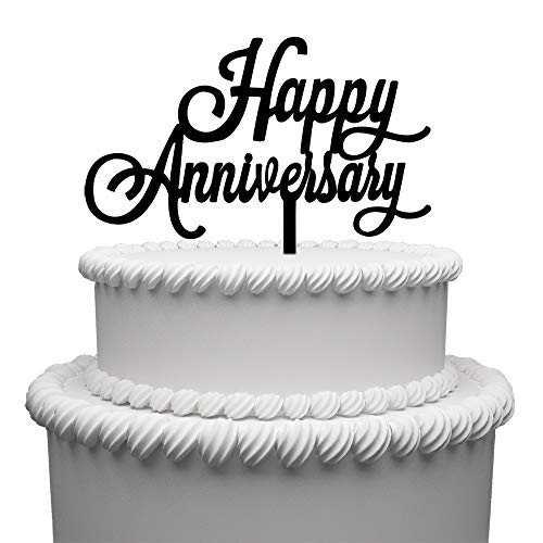 Decorations Cake Anniversary (Happy Anniversary Cake Topper Acrylic Wedding Cake Topper Party Supplies Decoration)