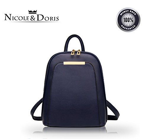 Backpack Nicole (NICOLE&DORIS New trend backpack shoulder bag ladies/women dual-use college wind fashion travel bag for students(Sapphire))