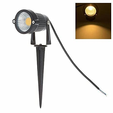 Original 5W LED Landscape Spotlight 12V 24V Outdoor Waterproof Path Light Low Voltage Lamp with Spike Stand for Garden, Yard, Pathways, Lawn, Driveway Decorative Lighting (White) (Warm White, 5watt)