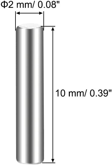 sourcing map 10 St/ück D/übelstift 304 Edelstahl Zylindrischer Regalbodentr/ägerstift 5 mm x 40 mm