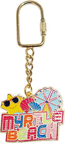 Myrtle Beach Keychain Featuring Beach Icons and The Famous Ferris Wheel