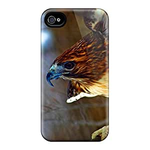 Brand New 4/4s Defender Case For Iphone (red Tail Hawk)