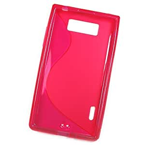 So'axess S line - Carcasa para LG Optimus L3 E400 (silicona), color negro y rosa