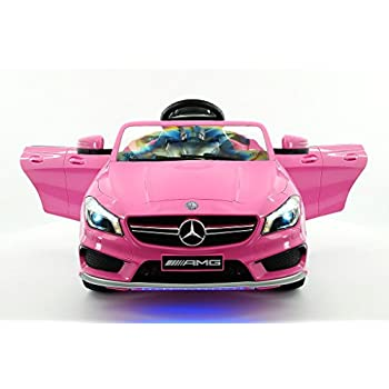 2016 mercedes cla45 12v kids ride on car toy for Pink mercedes benz power wheels