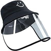 Taiduosheng Print Smile Dustproof Sunscreen Detachable Protection UV Sun Hats Outdoor Bucket Caps Summer Visors