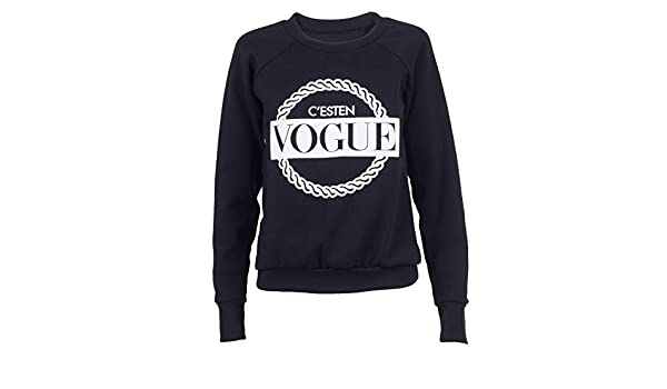 Vogue Sweater Fashion aufdruck Sudadera Suéter Jersey Mujer Young Obey Supreme diso Bey Homies DOPE Boy High Bonjour Hangover Stars Jadore negro ...