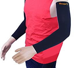 "Besjex â""¢ Compression Arm Sleeve (1 Pair) for Comfort and High Performance in Sports - For Men and Women - Great for Cycling, Running, Basketball, Baseball, Football, Golf, Volleyball, Crossfit & Athletics - Sun Protection-100% Satisfaction Guaranteed(X"