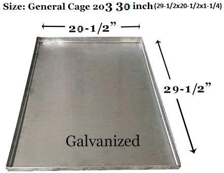 Pinnacle Systems Metal Replacement Tray for Dog Crate Pan Chew Proof Crack Proof Pet Kennel Tray Midwest Central Metal Dog Crate Pan Dog Cage Tray