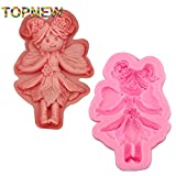 Star-Trade-Inc - Top New Angel Dancing Dance Girl Fondant Cake Molds 3D Fairy door Series Mould Cake Decor Tools Sugarcraft DIY Cupcake C3040
