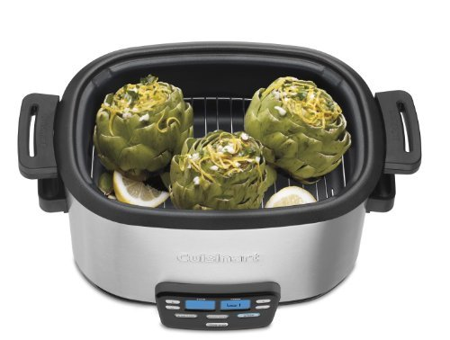 Cuisinart 3-In-1 Cooker, and Options Backlit LCD Touch Handles, Automatic Keep Feature