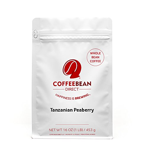 - Tanzanian Peaberry, Whole Bean Coffee, 16-Ounce Bags (Pack of 3)