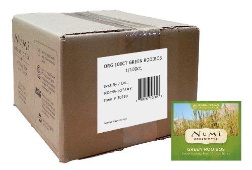 Grow Pot Case (Numi Organic Tea, Green Rooibos, Caffeine Free Herbal Teasan 100 Count non-GMO Bulk Tea Bags)