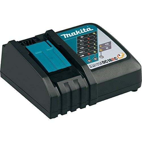 MAKITA DC18RC 18V Lithium-Ion Rapid Optimum Charger / Battery Chargers / Compact Design / LED light / Fast Charging ()