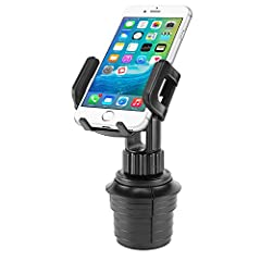 Introducing the Cellet Adjustable Automobile Cup Holder Made with an adjustable heavy base and durable plastic, the phone holder will securely lock in your cup holder. Hold your phone without concern for your phone moving as you drive Featuri...