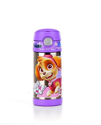 Thermos SS Vac Insulated 12oz Straw Bottle Paw Patrol Girl by Thermos
