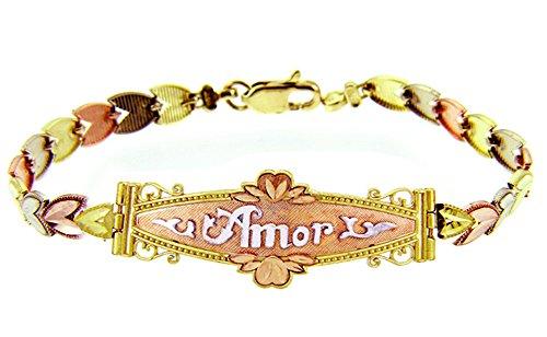 Petits Merveilles D'amour - 10 ct Troix Ton Or Bracelet - Amor Diamant Bracelet