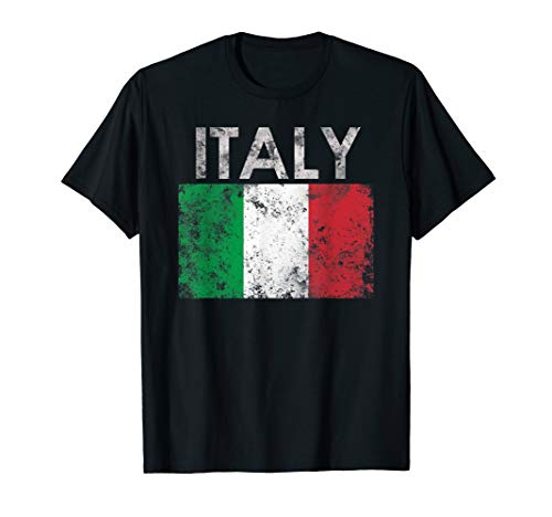 Vintage Italian Italy Flag Pride Gift T-Shirt